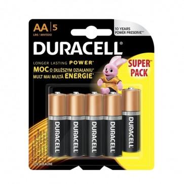 Baterija Duracell Basic AA/LR6 MN1500 4+1kom