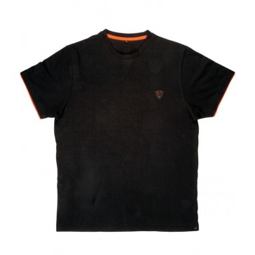 Fox Black/Orange Brushed Cotton T XL