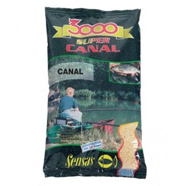 Sensas 3000 Fine Texture Canal Black 1kg