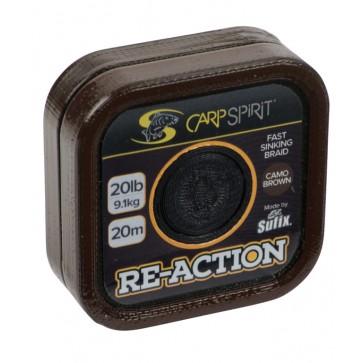 Carp Spirit Reaction Braid 20m Camo Brown