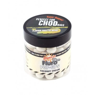 Dynamite Baits Coconut Cream Fluro Pop-Up 15mm