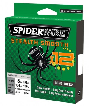Spiderwire Stealth Smooth 12 Braid 150m Moss Green