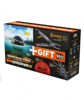 Deeper Smart Sonar Pro+ + Night Cover + Smatrphone Mount + Gerber Multi Tool