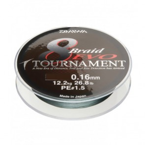 Daiwa Tournament 8 Braid EVO 300m Tamno Zelena
