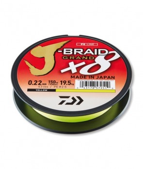Daiwa J-Braid Grand X8 135m Yellow