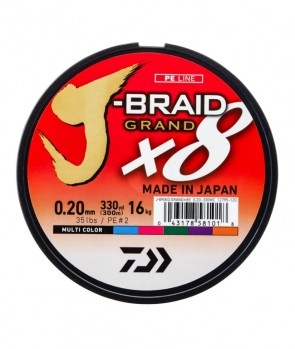 Daiwa J-Braid Grand X8 150m Multicolor