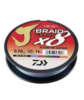 Daiwa J-Braid Grand X8E 300m Multi-Color