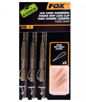 Fox Edges Camo Submerge Power Grip Lead Clip Kwik Change Kit 40Lb