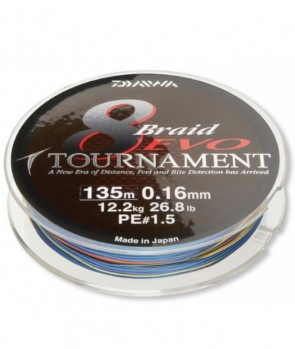 Daiwa Tournament 8 Braid EVO 300m Multicolor