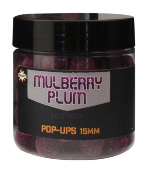 Dynamite Baits Foodbait Mulberry Plum Hi-Attract Pop-Up 15mm