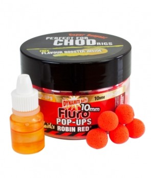 Dynamite Baits Robin Red Fluro Pop-Up 10mm+Booster
