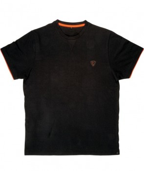 Fox Black/Orange Brushed Cotton T XL
