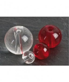 Iron Claw Glass Beads Red