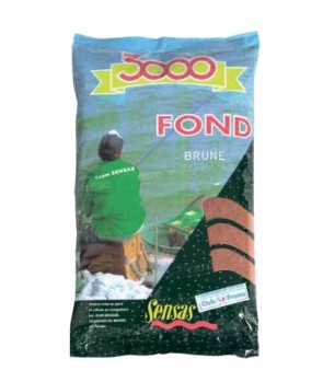 Sensas 3000 Fond (Heavy Mix Brown) 1kg