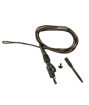 Prologic Safetly Clip QC Swivel Metal Core Leader 80cm 45lbs 3pcs