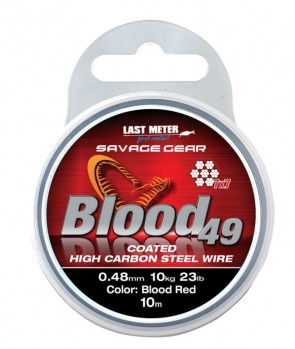 Savage Gear Blood49 Coated Red 10m