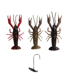 Savage Gear 3D Reaction Crayfish 7.5 cm Kit 3+1