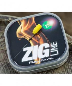Korda Zig Line 100m / 0,22mm / 7lb
