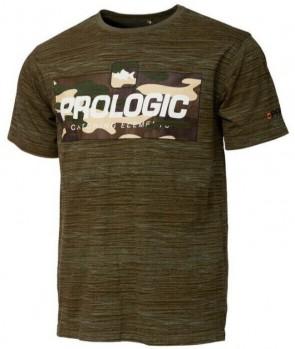 Prologic Bark Print T-Shirt Burnt Olive Green