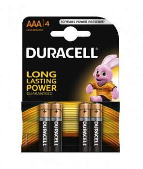 Duracell Baterija MN2400 AAA Basic / 1,5V / 4 KOM