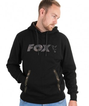 Fox Black / Camo Print Hoody
