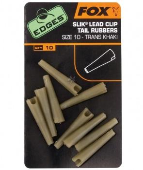Fox Edges Size 10 Slik Lead Clip Tail Rubber