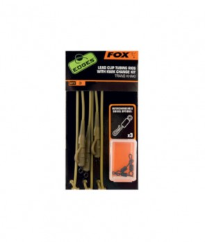 Fox EDGES™ Lead Clip Tubing Rig - Trans Khaki
