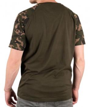 Fox Raglan Khaki / Camo Sleeve T