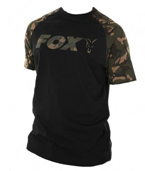 Fox Black / Camo Raglan T