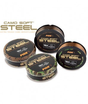 Fox Camo Soft Steel - Dark Camo 0.350mm 18lb/8.18kg