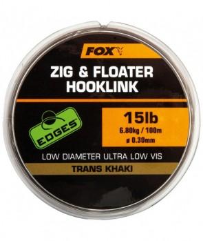 Fox Zig & Floater Hooklink Trans Khaki 100m