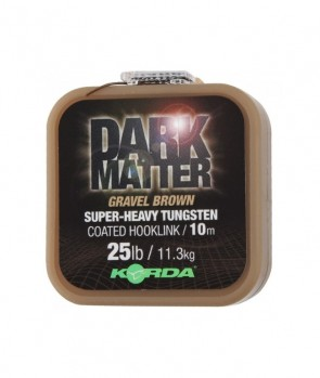 Korda Dart Matter Tungsten Coated Braid Gravel Brown 10m