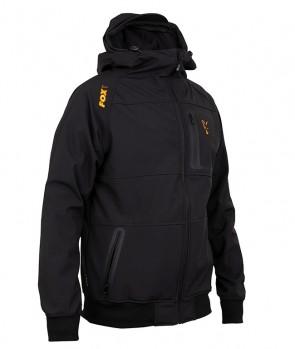 Fox Collection Black / Orange Shell Hoodie