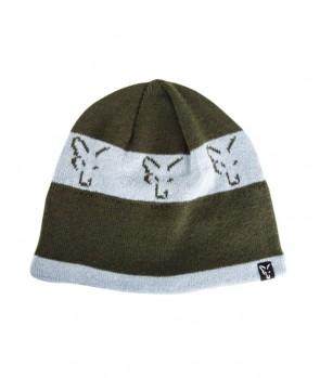 Fox Beanie Green Silver