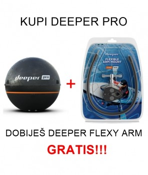 Deeper Smart Fishfinder PRO + Flexy Arm GRATIS