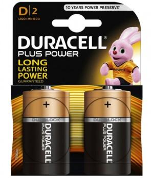 Duracell Baterija MN1300 Plus D / 1,5V / 2 KOM