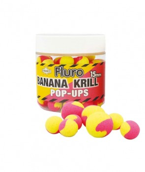 Dynamite Baits Krill & Banana Fluro Two Tone Pop-Up 15mm
