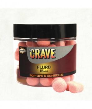 Dynamite Baits Crave Pink Fluro Pop Ups & Dumbells 15mm
