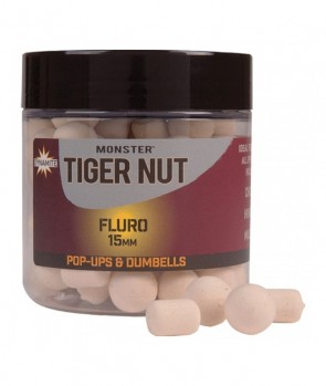 Dynamite Baits Monster Tigernut Fluro White Pop-Up&Dumbells 15mm