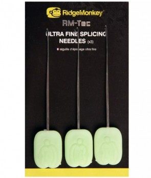 Ridge Monkey Ultra Fine Splicing Needles x3