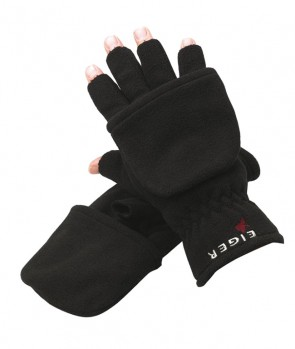 Eiger Fleece Glove Combi Black