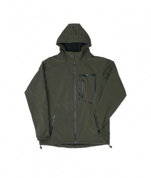Fox Green Black Softshell Jacket M