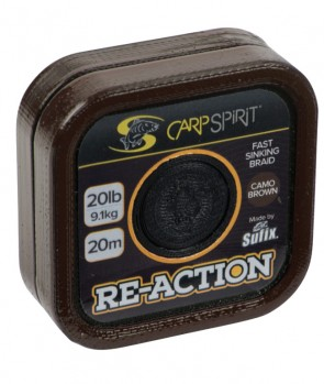 Carp Spirit Reaction Braid 20m Camo Brown