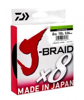 Daiwa J-Braid X8 300m Chartreuse
