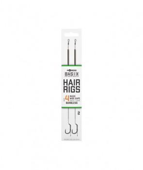 Korda Basix Hair Rigs Wide Gape Barbless 2pcs