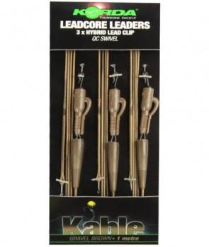 Korda Leadcore Leaders - Hybrid Lead Clip QC Swivel