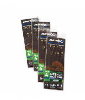 "Matrix 6"" Feeder Rigger Method Rigs Barbed x8 Bands"