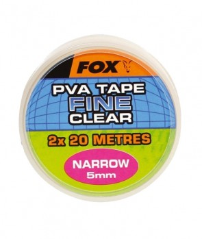 Fox Narrow 2 x 10m 5mm Clear Tape
