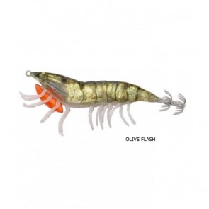 Savage Gear 3D Hybrid Shrimp 7.5 cm 12 g EGI Jig Miror 01-Olive Flas