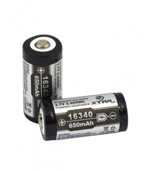 Baterija Punjiva Xtar Li-ion 16340 / R-CR123 / 650 mAh / SA ZAŠTITOM
